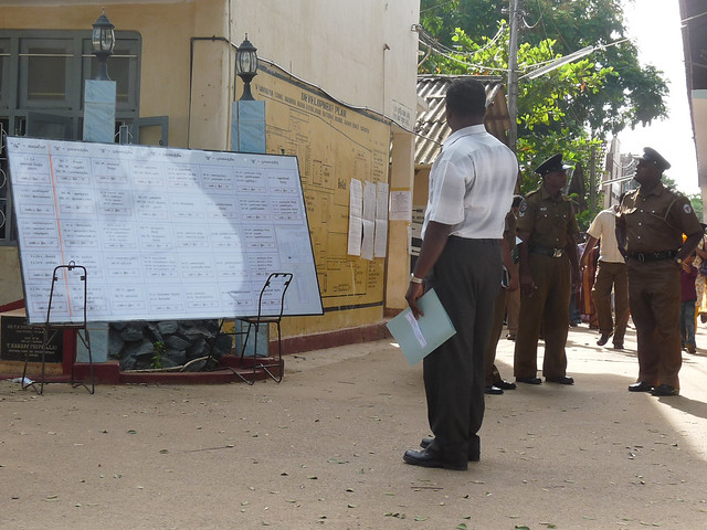 A voting station in the northern town of Vavuniya. / Credit:Anupema Ganegoda/IPS