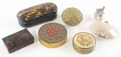 1024. Group of Seven Antique Trinket Boxes