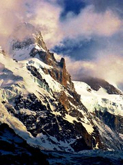 Mount Blanc Light, French Alps (moonjazz) Tags: alps france mountain peak photo light landscape climbing summit europe geology mountblanc travel photography tallest weather climb moonjazz spectacular