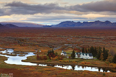 Fall Colors - ingvellir, Iceland (orvaratli) Tags: park color fall lava iceland arctic national plates volcanic ingvellir tectonic rift arcticphoto