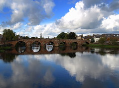 Dumfries and the River Nith (4) (Tony Worrall Foto) Tags: uk bridge blue sky reflection wet water beauty clouds river season landscape scotland nice border north scenic visit scene british serene split riverbank scotish scots dumfries nith queenofthesouth rivernith doonhamers scerary 2012tonyworrall