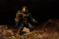 Chief (FrontlineFire) Tags: macro forest miniature lego halo xbox videogames elite armor sniper rocket megabloks armour masterchief spartan warthog calibur cqc