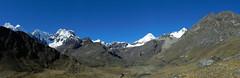 Panorama Quebrada Tayapampa (Mono Andes) Tags: panorama perú andes worldheritage alpamayo patrimoniodelahumanidad cordillerablanca pucajirca ph561 parquenacionalhuascarán canogastour tayapampa canogas2012