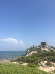 Tulum Mexico mayan ruins (onemorebiteblog) Tags: tulum mexico vacation wanderlust travel mayan ruins yucatan seaport