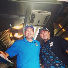 Tyler Lee & Norm Randall of @freshmedclt #Foodtruck. Awesome #mediterranean #greek #StreetFood. #CLT #cltbeer #CLTeats #Charlotte #Craftabeer #Foodie #Food #Yum #GoodEats #Good #falafel #gyro (BitesnBuzz) Tags: goodeats clt yum craftabeer cltbeer good greek falafel mediterranean foodtruck streetfood gyro foodie charlotte food clteats