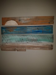 Sunset (Hilary Teft) Tags: sunset rustic wood painting