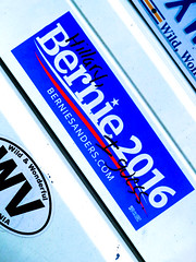 8-16-16 (jonathan.carroll484) Tags: bernie sanders hillary clinton supporting supporter election elections 2016 perspective pic photo image bumper sticker west virginia car