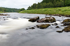 Flowing River Dee (steve_whitmarsh) Tags: water waterfall longexposure rocks river dee scotland aberdeenshire