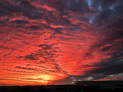Fire in the Sky! (TonyinAus) Tags: clouds sky sunset australia newsouthwales fire