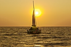 Another stunning Santorini sunset (somabiswas) Tags: greece santorini sailing boat aegean sea sunset