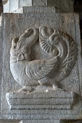 Mythical animal hybrid of Elephant and Peacock (VinayakH) Tags: talakad karnataka india temple hindu chola gangadynasty hoysala carvings vaidyeshvara kirtinarayana