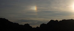 Sun dog over the Black Rock (Fife walking) Tags: sea kinghorn burntisland fife blackrock coastal fifecoast sundog