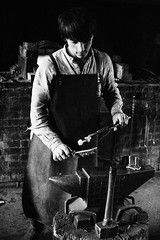 131252_18032014_MG_3378 (kamandre) Tags: blackandwhite blacksmith bw canon100d canonef2470mmf28lusm canonef2470mmf28l canoneos100d eosrebelsl1 eoskissx7 handsomeman house kamandre moscow museum museumworker portrait rawphotoprocessor rpp russia russian shadow smoke