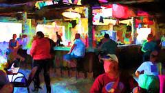 Sports Bar  (Explore, 8/18/16) (billackerman1) Tags: people sit sitting seated