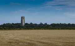 Amongst the fields (Chipyluna) Tags: church religion building architecture old past history eastsomerton norfolk field farming crops treeline tree trees sky clouds green gold yellow blue stone lines nature landscape nikon nikond3200 d3200 walks holidays holiday