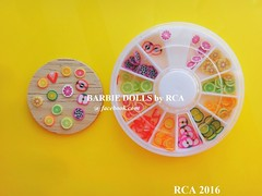 mini fruit slices (Barbie dolls by RCA) Tags: mini fruit slices nail art