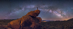 Stillness Reigns Over The Alabama Hills (Wayne Pinkston) Tags: alabamahills bishop california desert night nightsky sky nightphotography nightscape waynepinkston lightcrafter wwwlightcraftercom stars starrynight panorama milkyway galaxy cosmos astrophotography landscapeastrophotography widefieldastrophotography nikon longexposure