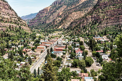Ouray Overlook (Scott Sanford) Tags: city colorado mountains rockymountains sanjuanmountains mainstreet historic trees outdoor landscape naturallight ouray travel trip vacation summer canon eos ef2470mmf28lusm 6d topazlabs