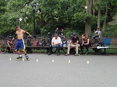 Roller blading skill (Robbie1) Tags: centralpark newyorkcity rollerblades