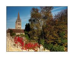 Du Saint-Emilion rouge (eric_47) Tags: vin rouge village saintemilion paysage automne arbre france aquitaine pierre glise wine red landscape autumn tree stone church gironde