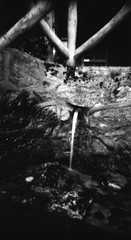 Spring water (Lassehn41) Tags: springwater water pushandpray pinhole apx100 homemade f130 blackandwhite nature intheforrest longexposure film 35mmfilm