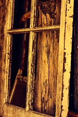 ...weather beaten faces offer us so much more.... (dawn.tranter) Tags: vintage paint peeling old seethrough dawntranter wednesday windows weathered