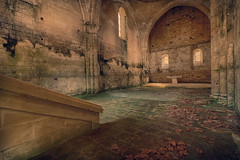 Les feuilles rousses smoussent... (ElfeMarie) Tags: chapelle abandonne oublie lost decay urbex glise ruine ruines