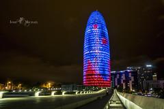 Torre Agbar (iosif.michael) Tags: sony a7 batis long exposure night photography lights colour barcelona spain travel europe torreagbar