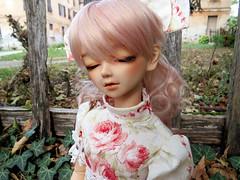 :: Chantal :: (Bunraku Doll) Tags: bjd doll volks chantal jolie lalaurie pinkhair empiresilhouette empirewaist girl f51 kun sweetdream sleeping dreaming mueca puppe     resin