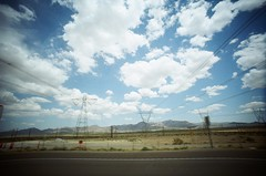 (golfpunkgirl) Tags: roadtrip latovegas enroute innout petrolsstation sunny california cali nevada lcwide 17mm lomo lomography film lomo400film negfilm travel holiday ava may2016