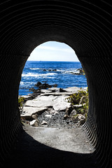 At The End of the Tunnel (WilliamND4) Tags: newport ocean water light tunnel nikon d610 50mm