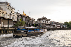 Canal Boat and Golden Mount (Context Travel) Tags: bangkok shutterstock