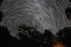 The Return to the Dark Sky (Radical Retinoscopy) Tags: fowlershollow statepark stateparks pa pennsylvania pennsylvaniastateparks nightsky circumpolar polaris astronomy astrophotography milkyway campfire darksky wideangle