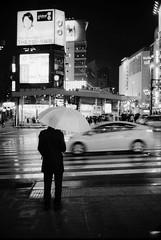 Tokyo (Giacomo Frullani) Tags: tokyo japan giappone leica blackandwhite bw street people city night rain umbrella