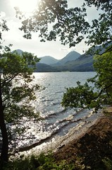 Loch Lomond & the Arrochar Alps (brightondj - getting the most from a cheap compact) Tags: inversnaid scotland trossachs lochlomond beach loch water trees arrocharalps mountains firstwalk