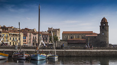 (49/62) She was here (ponzoosa) Tags: colliure france seaport fortress port puerto bright fortaleza castillo castle relative nomadism