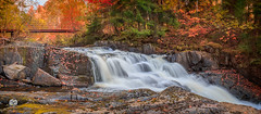 autumn waterfall (Geert Weggen) Tags: tree pine plant nature landscape birch high forest ground branch light sundown red water reflect rock waterfall river fall autumn art bridge sweden geert weggen jmtland ragunda