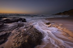 Reverse Flow (Paul Hollins) Tags: aus australia newsouthwales newcastle newcastleeast nikond750 nikon1635mmf4 seascape rocks waves watermovement longexposure