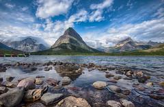 Swiftcurrent Lake- Many Glacier, Glacier National Park (Theresa Rasmussen) Tags: many glacier swiftcurrent lake glaciernationalpark clouds rocks