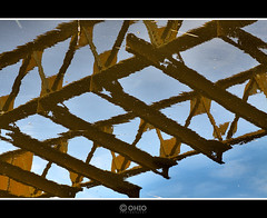water bridge. (ohio57) Tags: strange brug canon50d ohio57 paulvanranst reflectionwaterkant