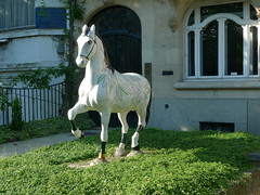 The gallop immobile - Le galop immobile (p.franche lent retour - Come back slowdown) Tags: brussels horse statue cheval europe belgium belgique bruxelles brussel schaarbeek schaerbeek belge lx3 pfranche