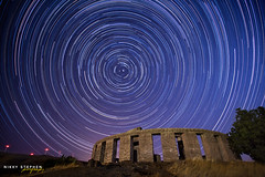 Star Trails at Maryhill Stonehenge (djniks) Tags: monument shower star washington memorial trails stonehenge wa meteor startrails maryhill canon1740f4 perseids polestar maryhillstonehenge canon5dmkii nikkystephen starstax