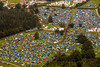 The sun is shining on Stradbally as festival goers arrive and pitch their tents at Electric Picnic 2012. Photo: Dara Munnis