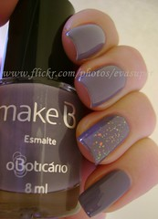 So Paulo Urban Gray - O Boticrio + Espectral - Big Universo [ Unha #9 - Desafio 10 cores 10 marcas ] (Eva Super) Tags: gray cinza espectral flocado biguniverso makeb sopaulourbangray desafio10coresmarcas esmalteboticrio