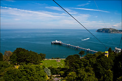 Cable Car (m78kem) Tags: trees sea sky 1969 car wales pier cabin long day lift great north cable aerial clear llandudno mile orme endless tpslandscape