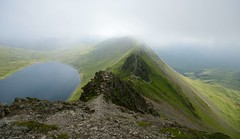 The Epic Striding Edge (ricklus) Tags: park uk mountain lake walk district hike ridge national edge cumbria helvellyn striding ricklus