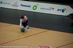 Paralympic GB Goalball player, Copper Box, London 2012 (www.kevinoakhill.com) Tags: china ladies london sport ball lens goal team women kevin blind oakhill box britain stadium great atmosphere cano games womens east arena v 7d copper gb disabled vs fold olympic brilliant folds stratford versus 2012 paralympics parl disability sighted paralympic 18200mm partially blindfolds goalball