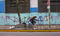 Bicicletas.. (Uri Gordon) Tags: city bike sport buenosaires path painted  ciudad bicicleta deporte pintada    bicisenda