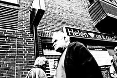 (tomomi machida) Tags: blackandwhite man face photography sweden streetphotography human angry malm