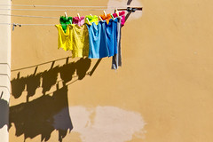 Laundry Day (Kathy~) Tags: shadow laundry italy colorful friendlychallenges herowinner gamewinner instagram